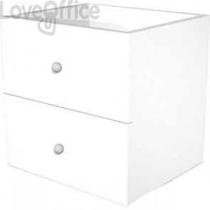 2 cassetti per libreria a caselle Maxicube bianco Artexport - 32,32x16 cm - 2c MaxC/3