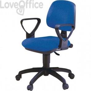 Sedia operativa da ufficio - Tobago Unisit - Blu - A41B/EB