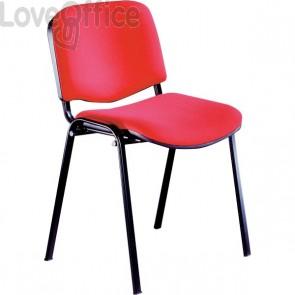Sedie attesa Agata DADO UNISIT - acrilico - rosso - D5S/4/ER (conf.4)
