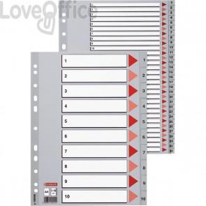 Pagina indice e divisori numerici in PPL per rubrica Esselte - 10 tasti