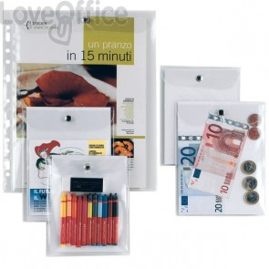 Busta con bottone in metallo Press E Sei Rota - 13x18 cm - 441318