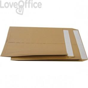 Buste a sacco avana con soffietti Pigna - soffietti su 2 lati - 25x35 cm - 120 g/mq - 0099083 (conf.250)
