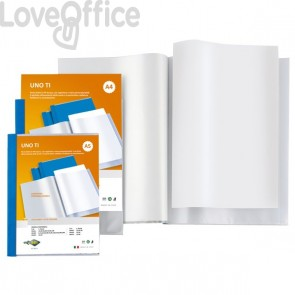 Portalistini A5 - Sei Rota Uno TI - personalizzabile -15x21 cm - 120 buste - Blu