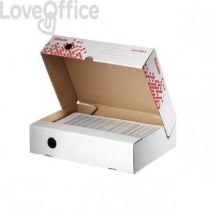 Scatole archivio Speedbox Esselte dorso 8 in cartone - 8x25x35 cm (conf.20)