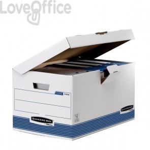 Sistema di archiviazione System Fellowes - 36,5x55x30,4 cm - coperchio ribaltabile - 1141501 (conf.10)