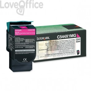 Originale Lexmark C544X1MG Toner return program magenta