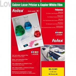 Film per stampanti laser e copiatrici Folex - bianco lucido - 125 my - 29729.125.44100 (conf.50)
