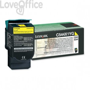 Originale Lexmark C544X1YG Toner return program giallo