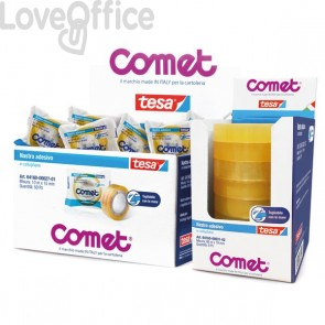 Nastri adesivi trasparenti Comet Cellophane - Torre - 19 mm x 66 m (conf.8 pezzi)