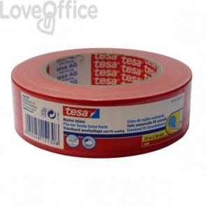 Nastro telato colorato Tesa - 38 mm x 25 m - rosso - 56359-00003-00