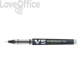 Roller V5 Refillable Pilot - nero - 0,5 mm - 040325