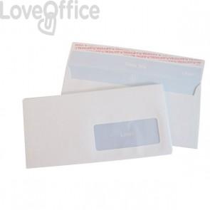 Buste con finestra Pigna - per stampa laser - taglio dritto - strip - 11x23 cm (conf.500)