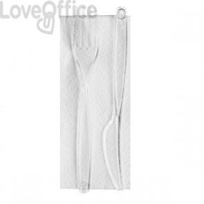 Bis Posate in plastica DOpla - Trasparente - 18 cm. - 03387 (conf.100)