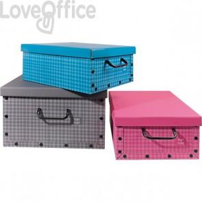 Scatole per armadi - scatola porta abiti in cartone La Piacentina - 40x50x25 cm - quadrettata
