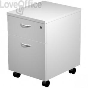Cassettiera ufficio con ruote - Artexport - smontata - 2 di cui uno classificatore - grigio - 43x52x60 cm