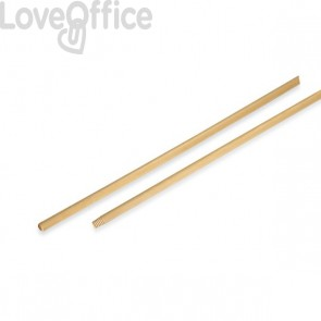 Manico di legno per Scopa industriale Perfetto - 150 cm - 0037E