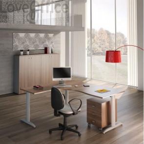 start up color noce con scrivania, allungo e cassettiera Linekit