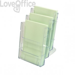 Portabrochure componibile Lit-Loc Deflecto - Portabrochure - A5 verticale - 16,1x5x20 cm - 772501EU