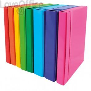 Cartelle portaprogetto con elastico in carta plastificata - dorso 5 cm - azzurro - Euro-Cart - CPIRI05ELPAZ