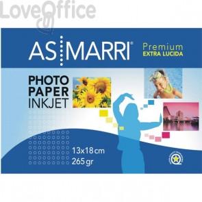 AS Marri carta fotografica per stampanti inkjet Premium - Extra lucida - 13x18 cm - 265 g/mq (conf.20)