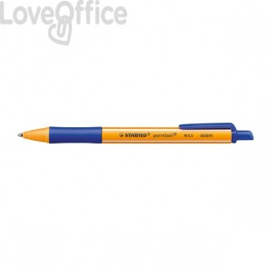 Penna a sfera a scatto Pointball Stabilo - blu - 1,2 mm - 6030/41