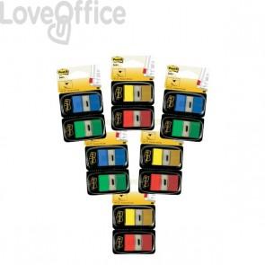 Segnapagina Post-it® Index 680 - segnapagina - blu, giallo, rosso, verde - 680-10+2 (conf.10+2)