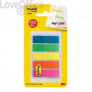 Segnapagina Post-it® Index Full Color 683 - arancio, blu, giallo, verde, viola - 683-HF5EU (conf.5)
