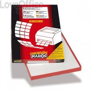 Etichette adesive Markin - 105x74 mm - 100 fogli da 8 etichette - X210C512 (conf. da 800 etichette)