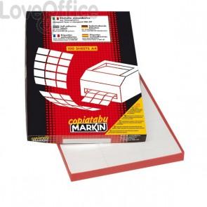 Etichette adesive Markin - 105x36 mm - 100 fogli da 16 etichette cad. - X210C501 (conf. da 1600 etichette)