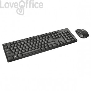 Tastiera e Mouse Wireless Deskset Trust - 21134
