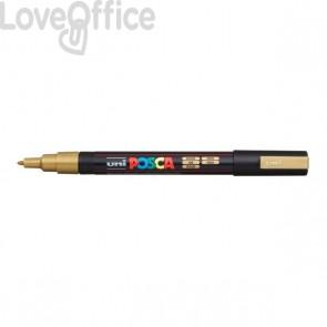 Pennarello Uniposca a tempera - Uniposca oro Uni-Ball - punta fine tonda - 0,9-1,3 mm