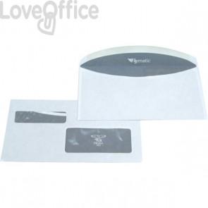Pigna buste postali con finestra doppia - taglio arrotondato - 11,5x23 cm (conf.1000)