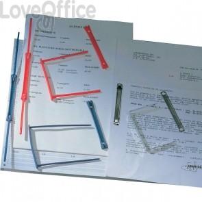 Fermagli Graffette Data Clip King Mec - blu - 000965E (conf.100)