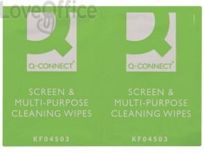 Salviette di pulizia multiuso Q-Connect senza alcool - KF04503A (conf. da 60 bustine singole)