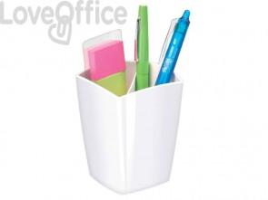 Portapenne CepPro Gloss CEP in polistirolo con 2 scomparti bianco 1005300021