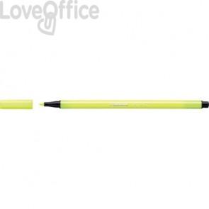 Pennarellini Stabilo Pen 68 1 mm - giallo fluo - 68/024 (conf.10)