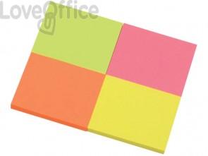 Foglietti riposizionabili Q-Connect g/m² colori intensi 38x51 mm 4 blocchetti da 50 ff - KF10510