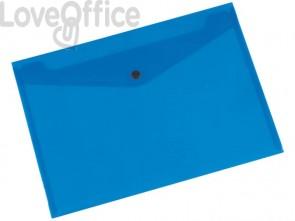Portadocumenti con bottone Q-Connect A4+ ppl blu KF03596