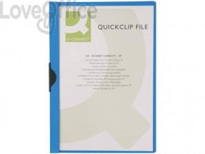 Cartelline con clip Q-Connect PVC 22x30,7 cm blu KF00462 (conf.10)