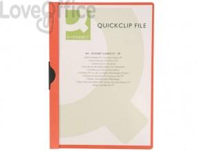 Cartelline con clip Q-Connect PVC 22x30,7 cm rosso KF00461 (conf.10)