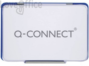 Cuscinetto per timbri Q-Connect 11x7 cm blu KF25209