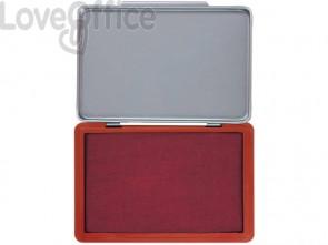 Cuscinetto per timbri Q-Connect 11x7 cm rosso KF25212