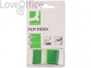 Segnapagina Q-Connect 25x43 mm verde blocchetto da 50 - KF03635