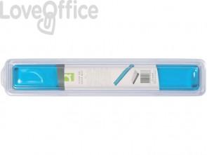 Poggiapolsi da tastiera in gel Q-Connect 49x5,5x2,3 cm blu trasparente KF20088
