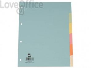 Divisori colorati Q-Connect assortiti 22,3x29,7 cm cartoncino manilla 6 fogli KF01859
