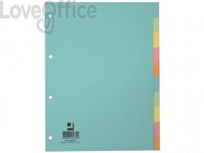 Divisori colorati Q-Connect assortiti 22,3x29,7 cm cartoncino manilla KF01860 (10 fogli)