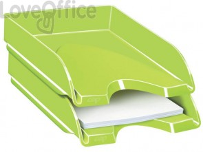 Vaschetta portacorrispondenza CepPro Gloss in polist. impilabile in verticale o a scalare verde anice - 1002000301