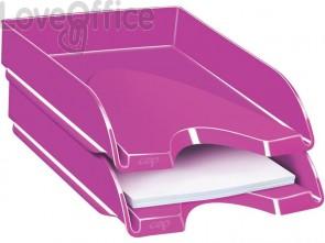 Vaschetta portacorrispondenza CepPro Gloss impilabile CEP in polistirene capacità 450 fogli rosa - 1002000371