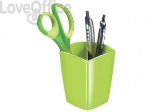 Portapenne CepPro Gloss CEP in polistirolo con 2 scomparti verde anice 1005300301