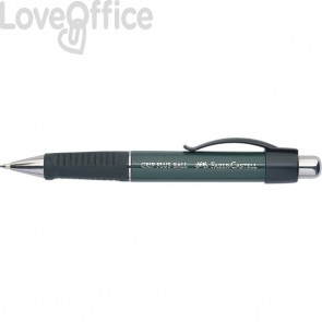 Penna a sfera Grip Plus Metallic Faber Castell - blu - pulsante - 140700